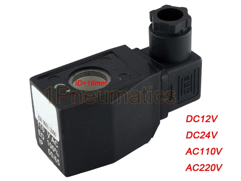 Free Shipping 10PCS/Lot Solenoid Valve AB410A Electric Coil 12-220V AC/DC DIN43650A Connector For 3/8