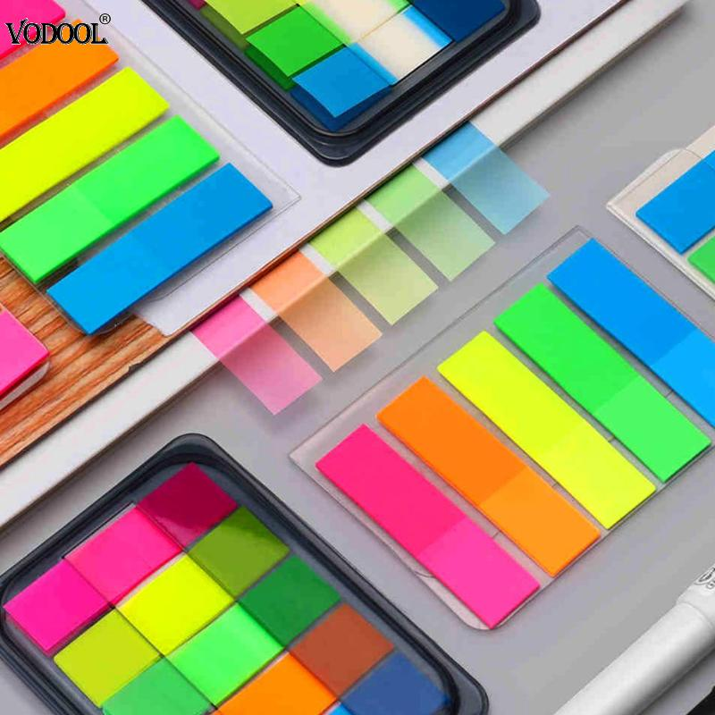 100pcs Mini Paper N Times Sticky Notes Index Tag Memo Pad Label Tag Bookmark Stickers Sign Planner Message Stationery Supplies