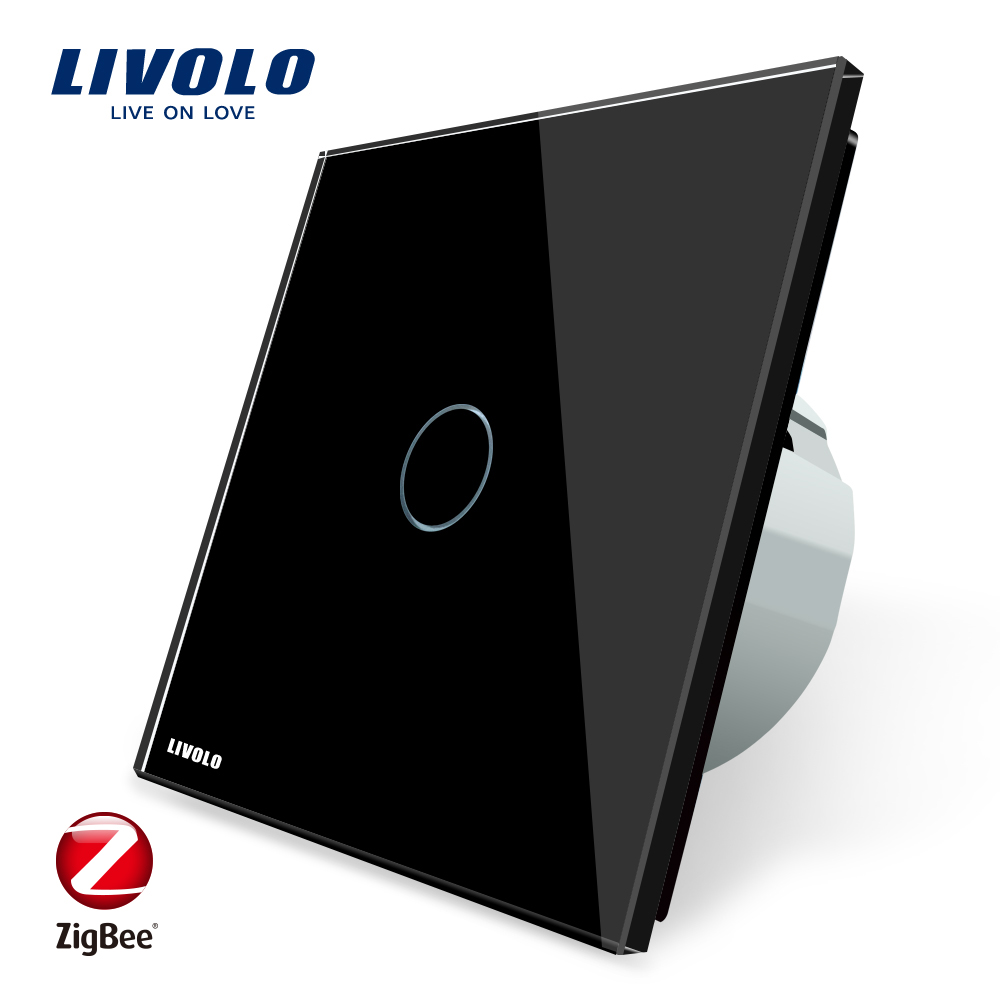 Image 3 - Livolo EU Standard Zigbee Smart Home Wall Touch Switch, Touch WiFi APP Control, google home control , Alexa, echo control-in Switches from Lights & Lighting