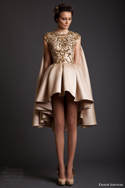 Saudi Arabia Kaftan Prom Dress Krikor Jabotian Short Formal Dress