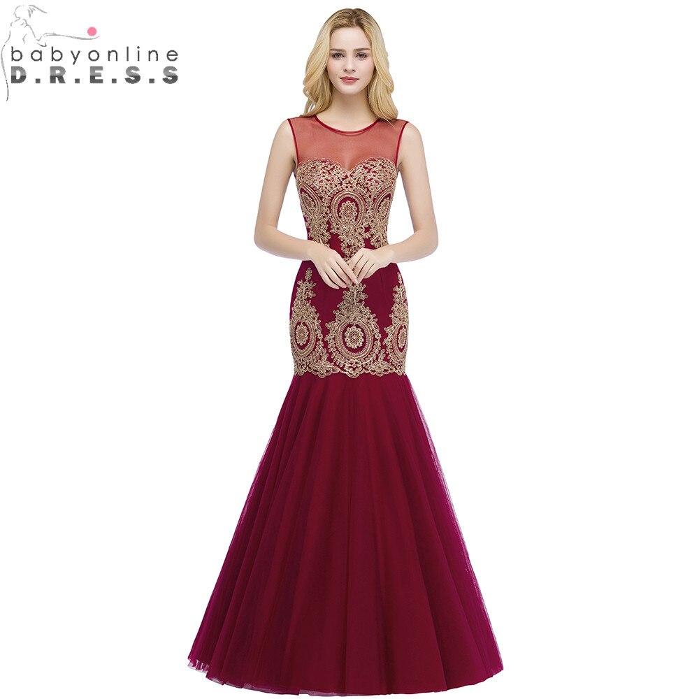Robe de Soiree Longue Sexy Transparent Burgundy Mermaid Lace Long   Evening     Dress   Elegant Tulle   Evening   Gown Vestido de Festa