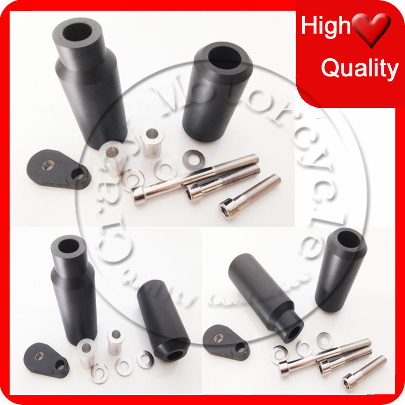 Motorcycle For Kawasaki ZX-6R ZX-6RR 636 2005 2006 ZX6RR ZX636 ZX6R Black No Cut Frame Sliders crash Falling protection