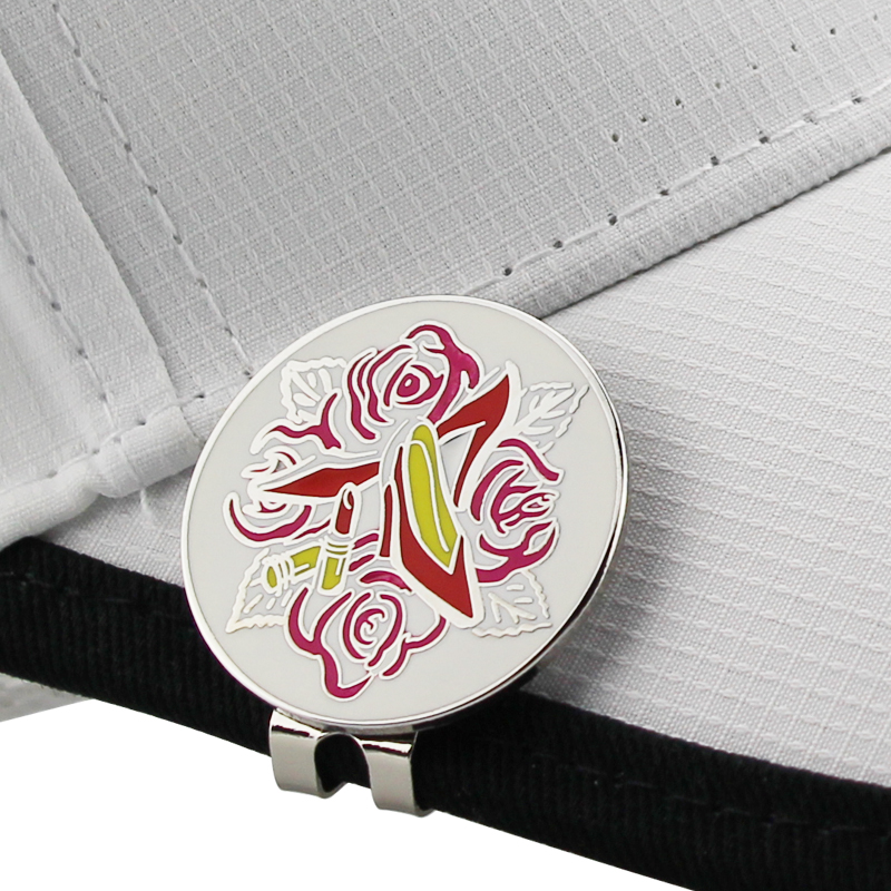 High-heeled Shoes Golf Cap Clip Golf Ball Marker Alloy Professional 1.18