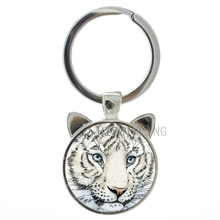 King of the forest Fierce Tiger keychain vintage fashion wild animals charms pendant key chain ring Protect save wildlife CN277