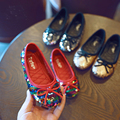 Lantejoulas Bling Bling Princesa Dança Ballet Loafer Meninas Mocassins Planas Sapato Arco Glitter Brilhante Vistoso Das Sapatilhas Cores Beautyful