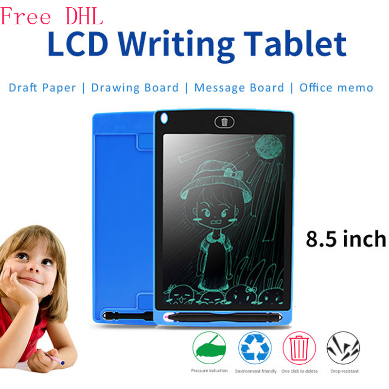Free DHL 8.5inch LCD Writing Board Children Early Education Small Drawing Board Writing Board Drawing Toys Board Gift