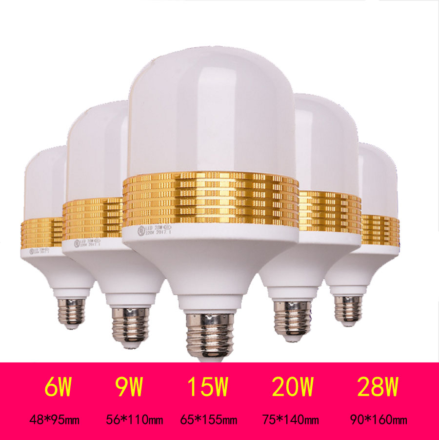 5730SMD B22 E27 Led Bulb ,6W 9W 15W 20W 28W Ultra-bright Led energy-saving light bulbs AC220V smart bulb e27 7w led bulb energy saving lamp color changeable smart bulb led lighting for iphone android home bedroom lighitng