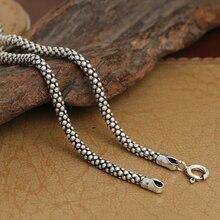 3 MM collar hechos a mano tailandesa 925 collar de collar colgantes de plata colgante collares Real collar de plata de ley