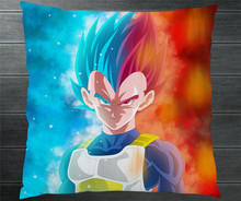 c652bcc42f16 Anime Dragon Ball Super Goku Vegeta Ultra Instinct Two Side 40x40cm  Pillowcase Pillow Case Cover Cosplay Gift BED SOFA CAR Decor