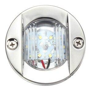 Image 3 - 12 فولت LED مركبة بحرية يخت الذيل إضاءة أرضية من الاستانليس ستيل الأبيض مرساة ستيرن ضوء مقاوم للماء