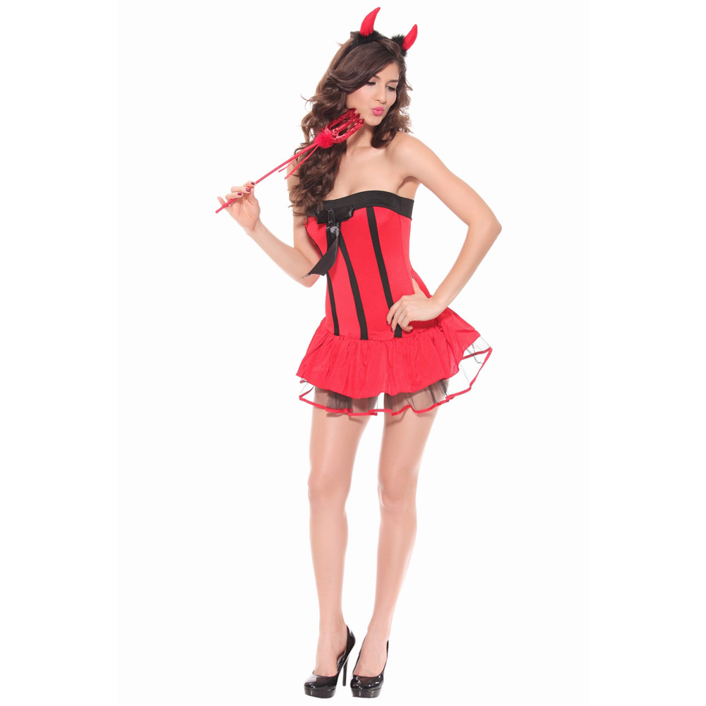 Free Shipping Red Women Devil Costume Fancy Dress Sexy Lady Halloween  Cosplay-in Game Costumes from Novelty   Special Use on Aliexpress.com  9adf02fc02f6