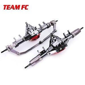 Image 4 - 1 ensemble 1/10 Rc voiture complète alliage CNC essieu avant et arrière en métal avec bras CNC usiné pour 1:10 Rc chenille axiale SCX10 RC4WD S242