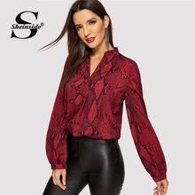 Sheinside Women Blouses Shirts Office La