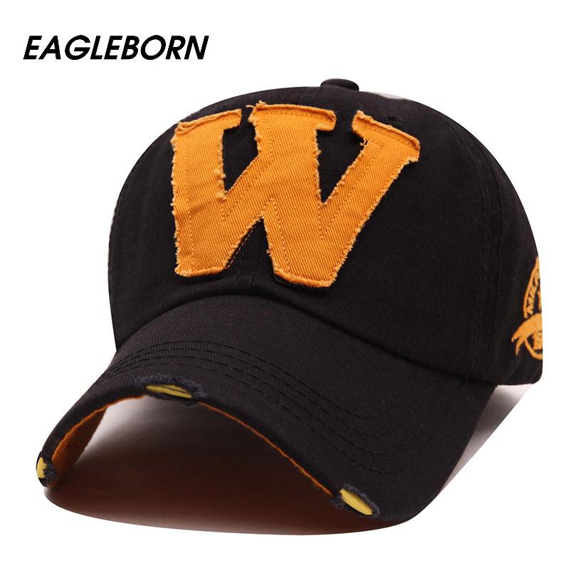 Eagleborn 2017 hot cotton embroidery letter W baseball cap snapback caps fitted bone casquette hat for men women Cool Hip Hop