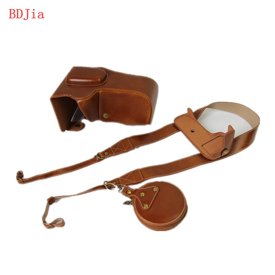 New Luxury Leather Camera Case For Nikon D3400 D3300 D3200 SLR Camera PU Leather Camera Bag Cover With Battery Opening + strap