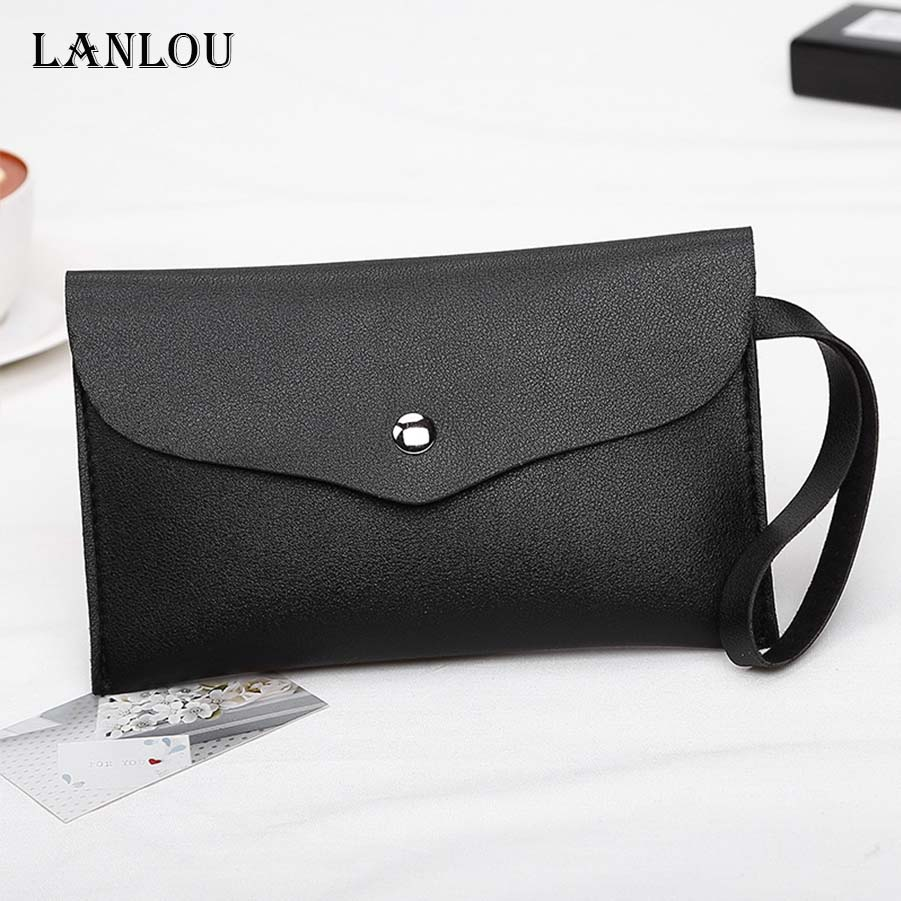 7711bbcaf38e US $1.29 |LAN LOU wallet women leather wallets brand luxury brief women  Wallet Women's clutch bag Hot magnetic buckle mobile coin purse -in Wallets  ...