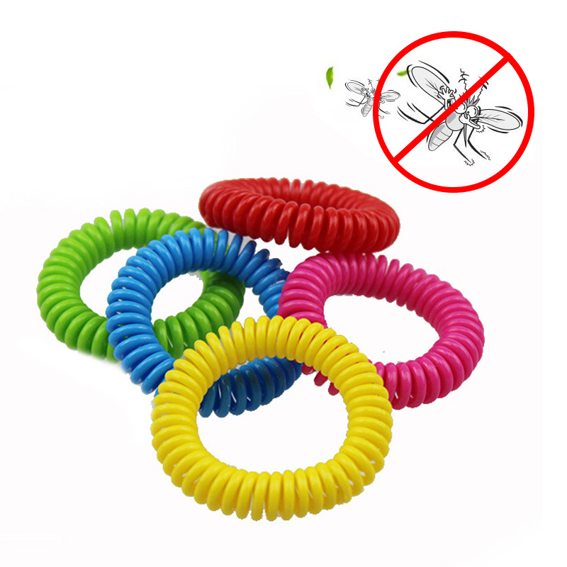 10 Pcs/Lot Safe Mosquito Repellent Bracelets Deet Free Waterproof Spiral Wrist Band Outdoor Indoor Insect Protection E2S