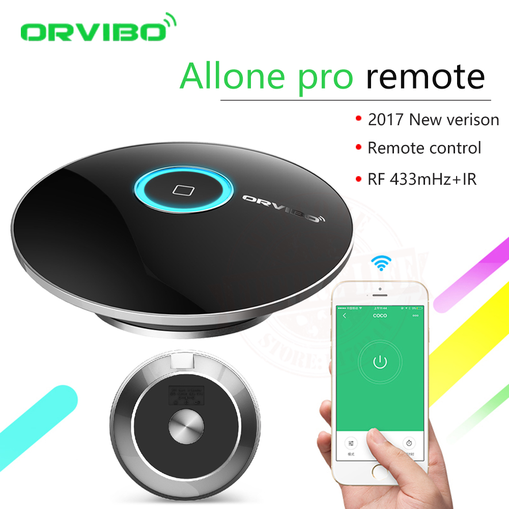 2017 Orvibo Smart Home Automation Intelligent Controller Allone pro,Smart Phone Wireless Smart Remote Control IR+RF+WIFI Switch