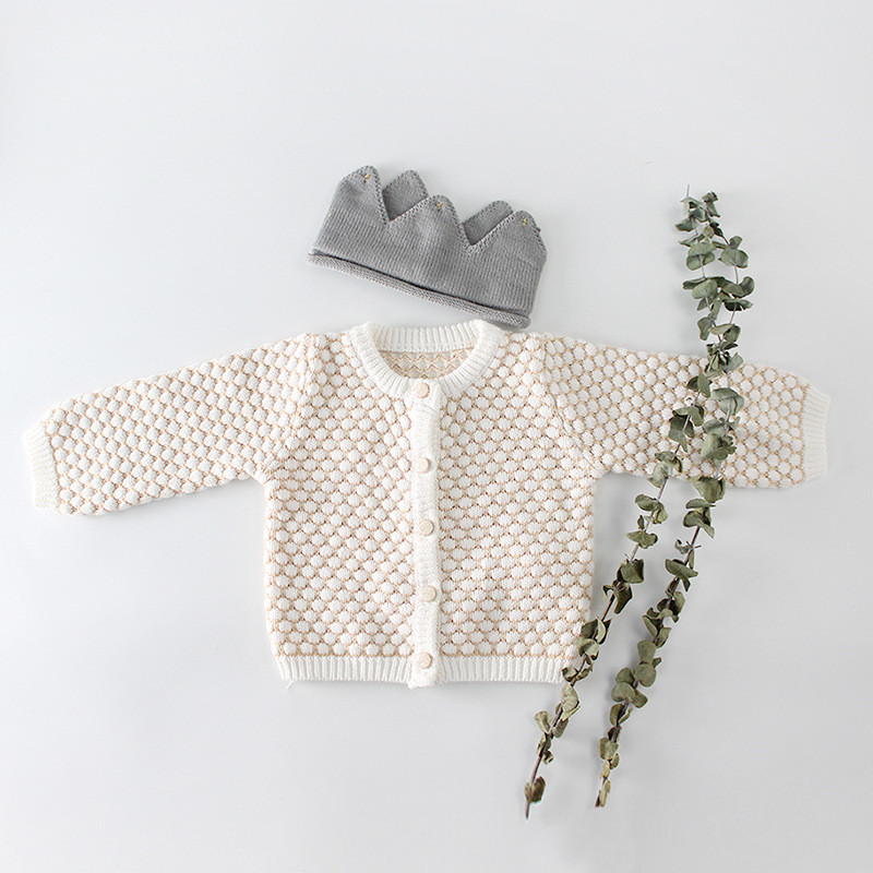 2020 Infants Clothing Sets Baby Girls Knitted Cardigan Coat Baby Bodysuits Two Pieces Polka Dots Sweaters Toddler Kids Outfits
