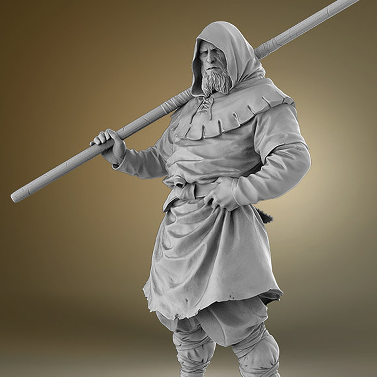 1/24 Resin character model 75mm movie historical character Viking R78 image