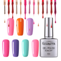 New Arrival 79Colors Gel Of Nail DIY Nail Art Salon Gel Polish 8ML1Pcs Soak Off Gel Lucky Free Shipping Gouserva
