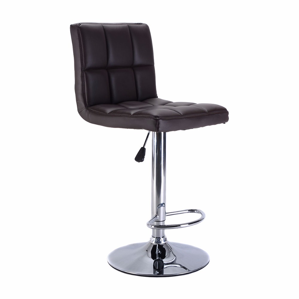 Set of 2 Bar Stool PU Leather Barstools Chair Adjustable Counter Swivel Brown HW51712 2BN-in Bar Chairs from Furniture on Aliexpress.com | Alibaba Group  sc 1 st  AliExpress.com & Set of 2 Bar Stool PU Leather Barstools Chair Adjustable Counter ... islam-shia.org