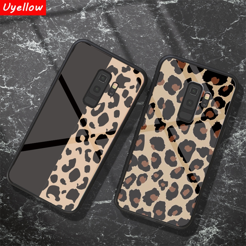 Tempered <font><b>Glass</b></font> Leopard <font><b>Case</b></font> For <font><b>Samsung</b></font> <font><b>Galaxy</b></font> S8 S9 S10 M10 <font><b>M20</b></font> A30 A40 A50 A70 J5 J7 2017 J4 J6 A6 Plus A7 A8 A9 2018 Fundas image