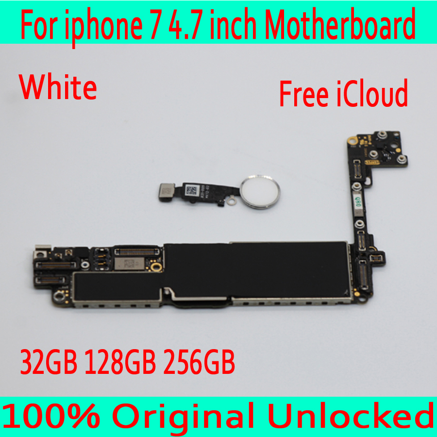 Free Shipping with Touch ID for iphone 7 Motherboard with IOS System ,Original unlocked for iphone 7 Mainboard ,Good Tested
