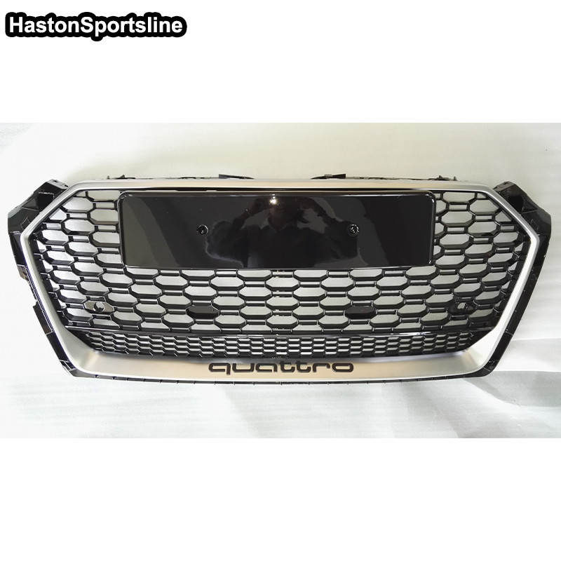 A5 S5 RS5 S Line Quattro Front Bumper Engine Grill Grids for Audi A5 2017UP With 4 Ring Logo фары номерного знака candy 5 18 smd audi audi a4 b8 s4 a5 s5 q5 s tt rs
