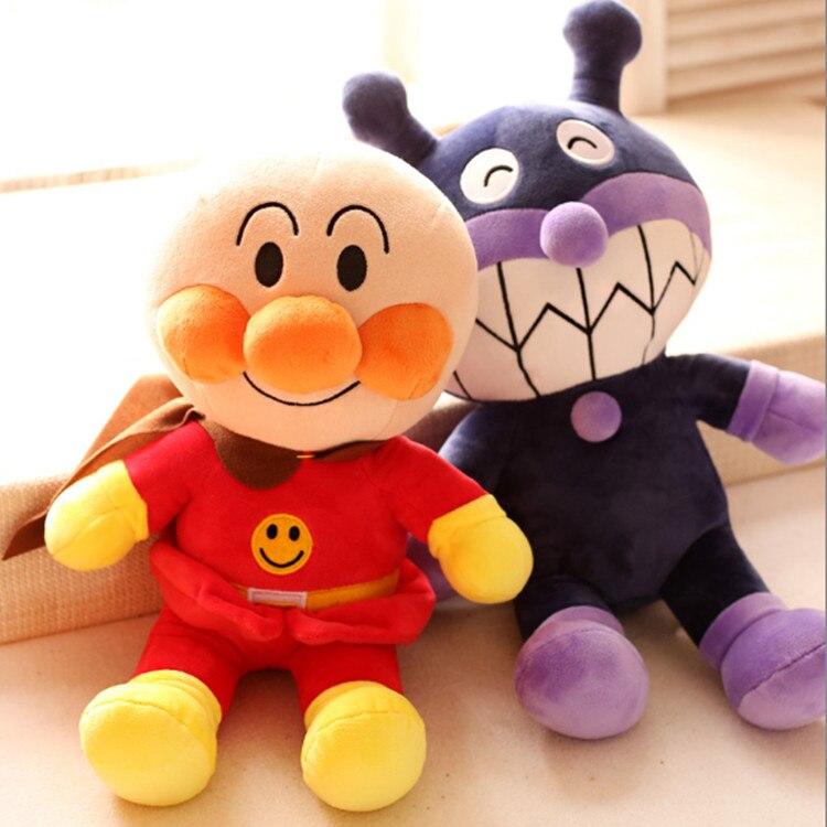 18 cm/36 cm Japon anime peluche poupée pain superman jouets en peluche enfants poupée anpanman bactéries poupée ragdoll d'anniversaire cadeau