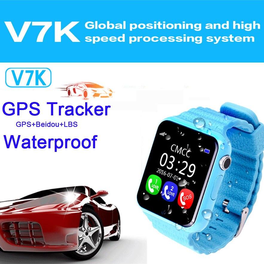 imágenes para Litka Impermeable GPS Reloj Inteligente Bebé Niño Reloj V7k con Cámara Facebook Llamada SOS Perseguidor de la Localización de Seguros para Niños PK Q80 Q90 Q50