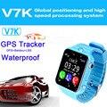 Litka v7k com câmera à prova d' água gps smart watch relógio bebê criança Facebook Chamada SOS Localização Rastreador para o Miúdo PK Seguro Q80 Q90 Q50