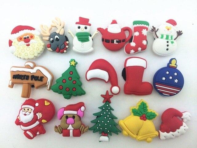 29472d3fdf53a 16 Pcs PVC Christmas Santa Shoe accessories Shoe Charms Shoe Decorations  for Croc Bracelet Wristband Kid