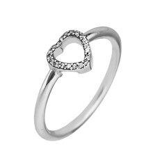 0bed311914f52b 1 szt kobiety 925 Sterling Silver Rings biżuteria Puzzle serce ramki  pierścienie dla kobiet DIY piękna biżuteria FLR16139