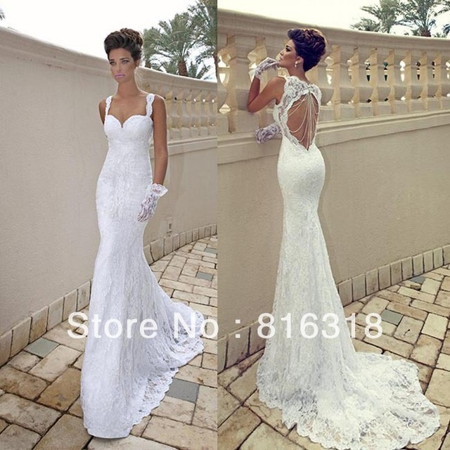 Vestido De Noiva Sexy Wedding Dresses Lace Open Back Backless 2017 Casamento