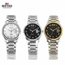 Luxury Brand Watch Mstre Quartz Watch Lover's Round Hardlex Complete Calendar 316L Teel Tungsten Waterproof Men Women Watches