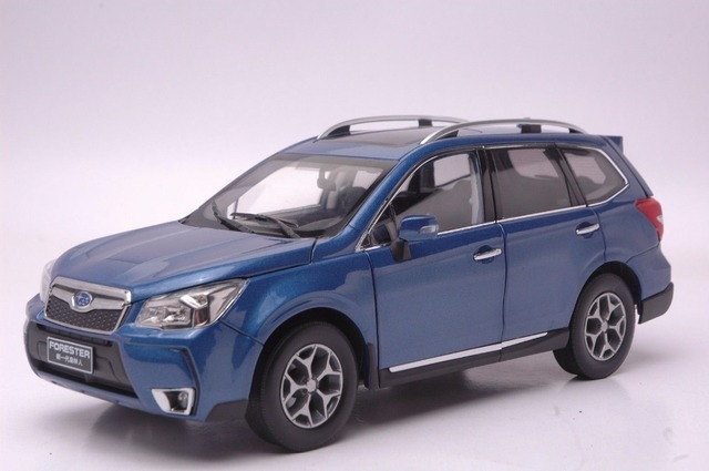 1 18 Cast Model For Subaru Forester 2017 Blue Suv Alloy Toy Car Collection Gifts