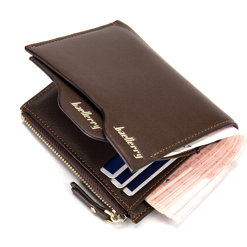 Brand Men Wallets With Coin Pocket Men Leather Wallets Fold Money Bag Men Wallet Bag Male Purse Card Holder Carteira Masculia