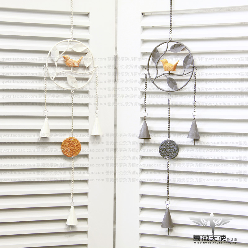 Free shipping French vintage iron bell wind chimes home decoration muons new arrival 2