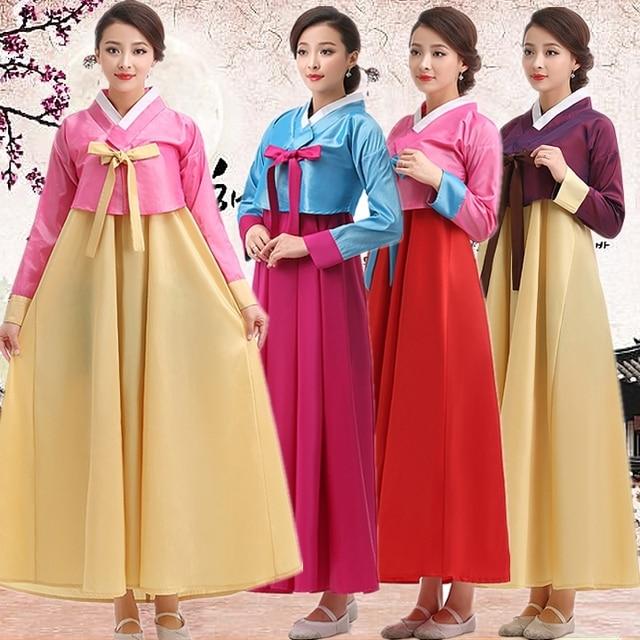 Korean Traditional Dress Hanbok Women Palace Dae Jang Geum Dance