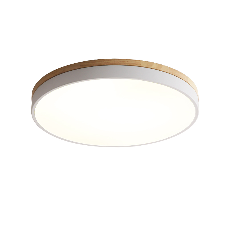 ECOBRT Nordic style modern Round Bedroom ceiling Lights minimalist balcony small bedroom led living room lamp minimalist modern nordic creative design ceiling lamp circular living room bedroom aisle dimming led ceiling lights za