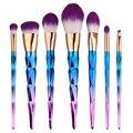 7 unids Pinceles de Maquillaje Conjunto de Diamantes arco iris manejar Brocha herramientas de belleza Cosméticos Fundación Colorete Powder kits-MB006