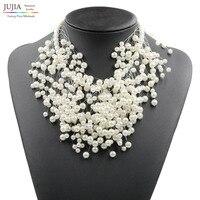 2015 New Z Design Pearl Necklace Fashion Luxury Choker Design Pearl Pendant Necklace