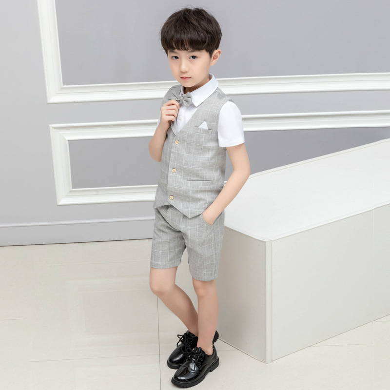LUOBOBEIBEI Boy Kids Clothes Child Clothes Casual Set Spring Summer 2019 Baby Boy Formal Set 4 Pcs Vest Shirt Pant Boy ClothesLUOBOBEIBEI Boy Kids Clothes Child Clothes Casual Set Spring Summer 2019 Baby Boy Formal Set 4 Pcs Vest Shirt Pant Boy Clothes