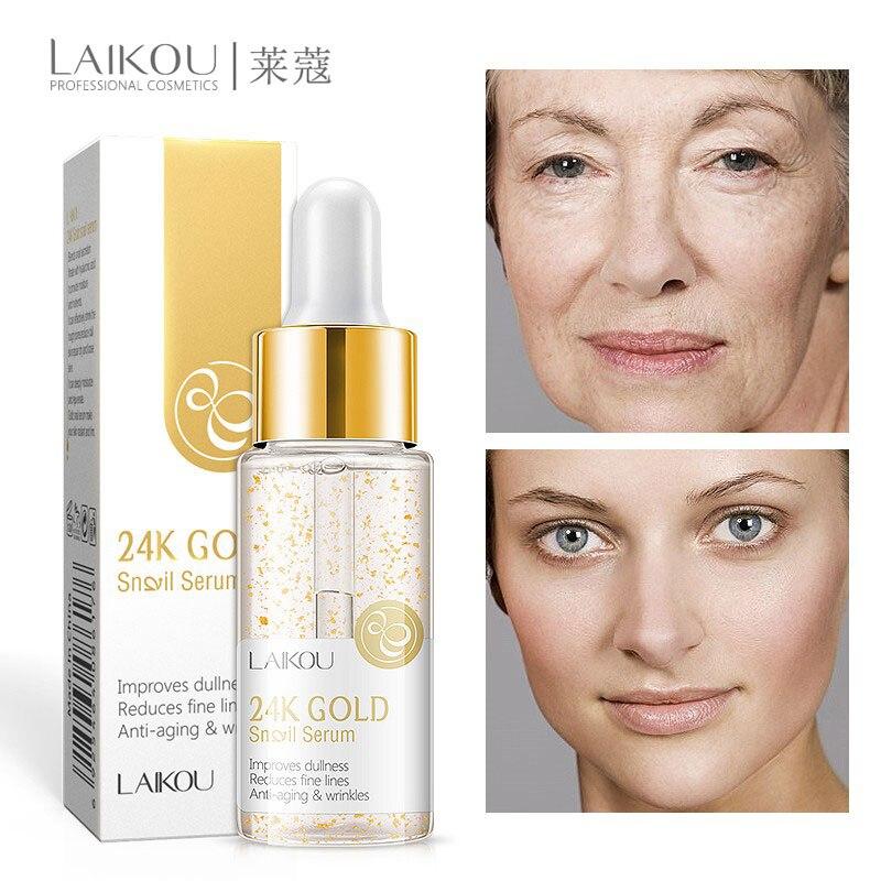 24K Gold Vitamin C Whitening Serum Hyaluronic Acid Face Cream Snail Remover Freckle Speckle Fade Dark Spots Anti-Aging Skin Care