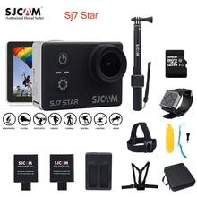 Оригинальный SJCAM SJ7 Star Wi-Fi 4 К гироскопа Сенсорный экран Ambarella A12S75 30 м Водонепроницаемый удаленного Спорт действий Камера автомобиль mini DVR