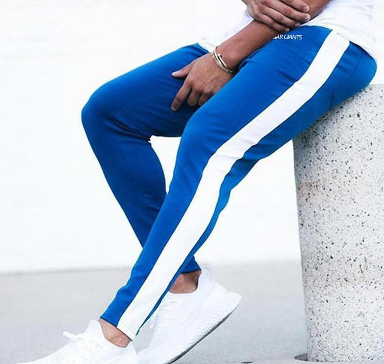 ENJPOWER New Men Pants Hip Hop Fitness clothing Joggers Sweatpants Side stripe classic fashion Streetwear Track Innrech Market.com