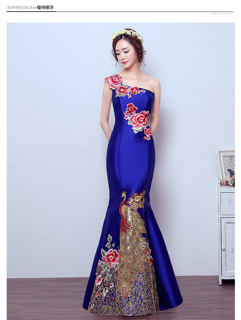 Free shipping TK1502 sexy One-shoulder Party Gowns long mermaid   evening     dress   vestido de festa 2019 robe de soiree 2019