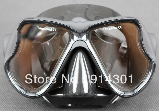 Professional all black silicone goggles M22-BK .SBL snorkeling equipment snorkelling diving mask diving equipment