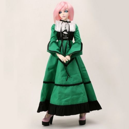 [wamami]110# Green Dress/Outfit/Outfit 1/3 SD DZ DOD LUTS BJD Doll Dollfie